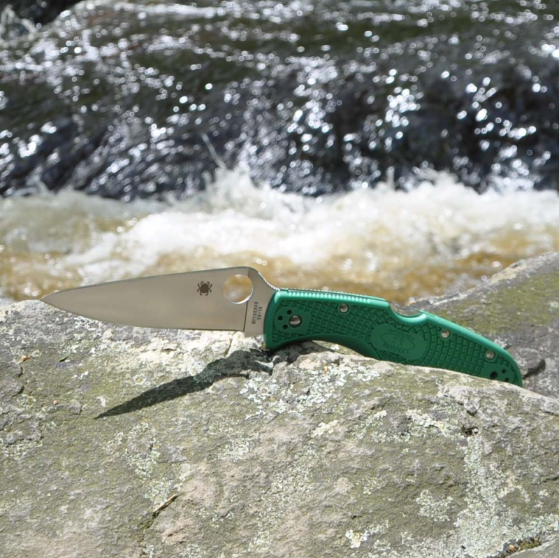 Spyderco SC10FPGR  Endura Flat Ground Green