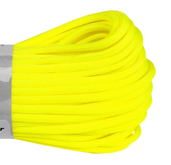 Atwood 550 Paracord - Yellow